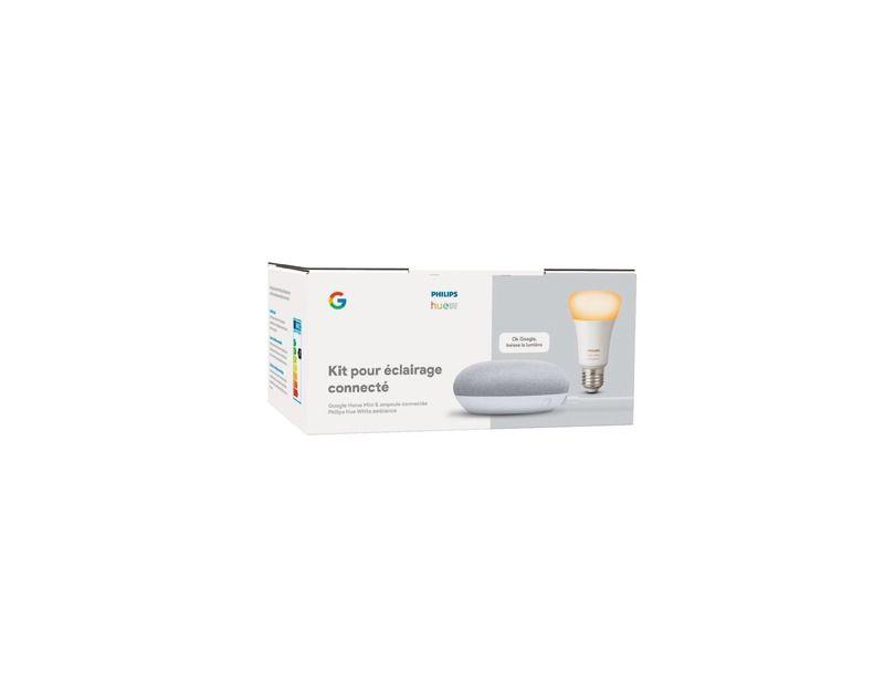 Kit Google Home Mini + Ampoule Connectée Philips Hue *